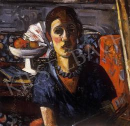Gráber Margit - Kékruhás nő