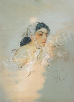 Zichy Mihály - Fiatal hölgy