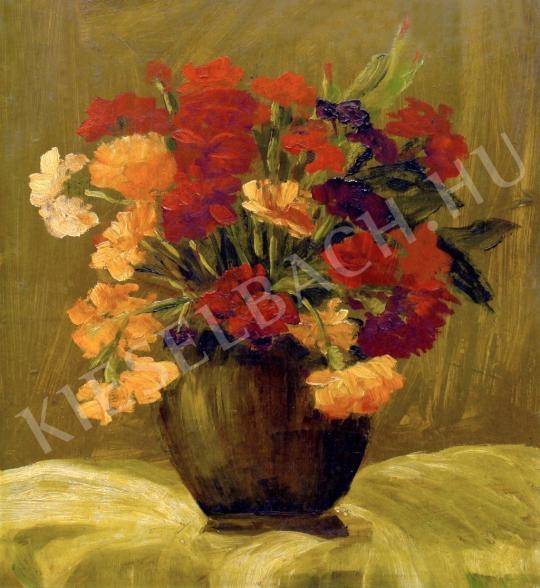 Schuschny Erna - Virágcsendélet festménye