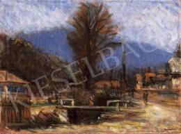 Mikola András - Nagybányai patak híddal