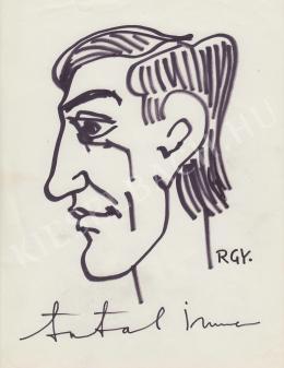 Rózsahegyi, György - Portrait of Imre Antal Humorist, TV Commentator