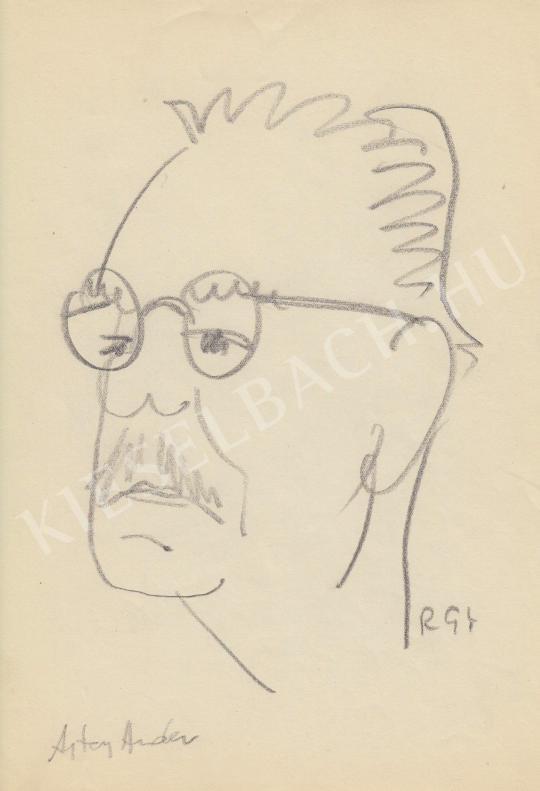 Eladó  Rózsahegyi György - Ajtay Andor színész, rendező portréja festménye