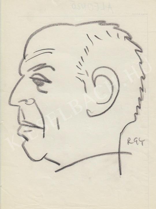 Eladó  Rózsahegyi György - Alfonzó humorista portréja festménye