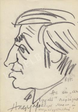 Rózsahegyi, György - Portrait of János Angyal Humorist