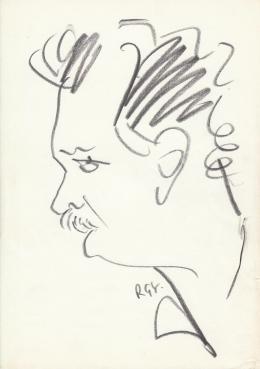 Rózsahegyi, György - Portrait of Péter Balázs Actor