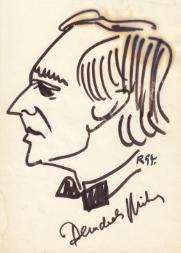 Rózsahegyi, György - Portrait of Miklós Benedek, Actor, Director