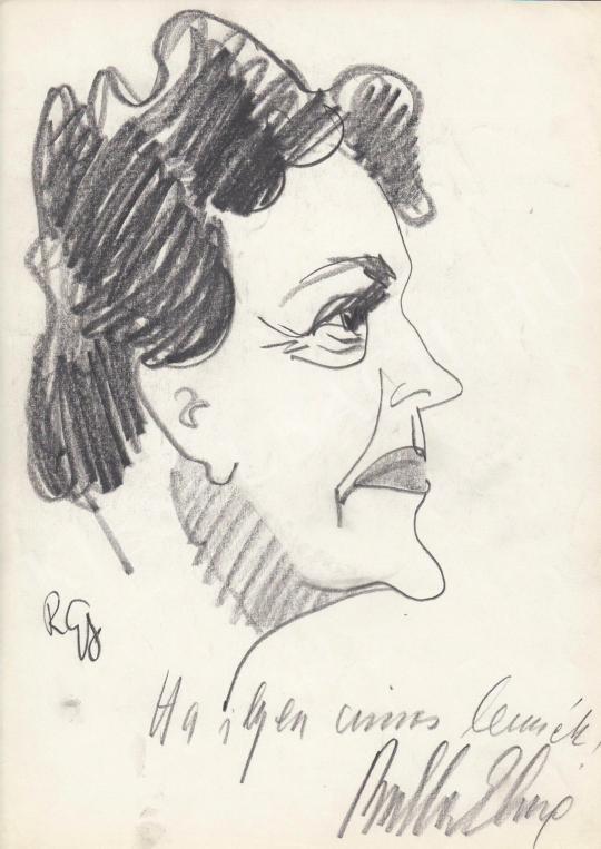 Eladó  Rózsahegyi György - Bulla Elma színésznő portréja festménye