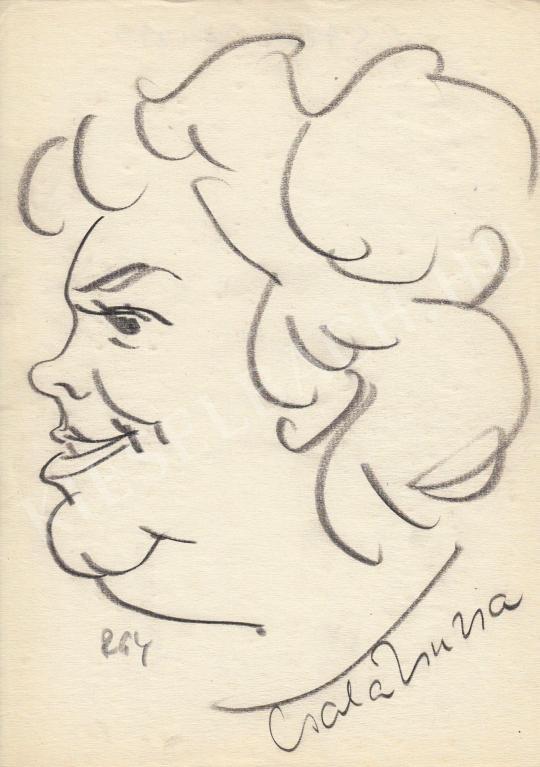 For sale  Rózsahegyi, György - Portrait of Zsuzsa Csala Actress 's painting