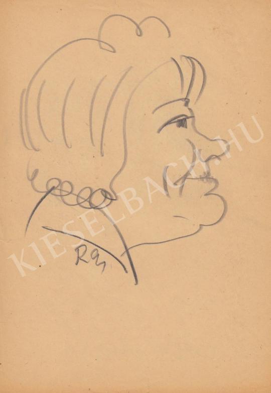 Eladó  Rózsahegyi György - Csala Zsuzsa színésznő portréja festménye