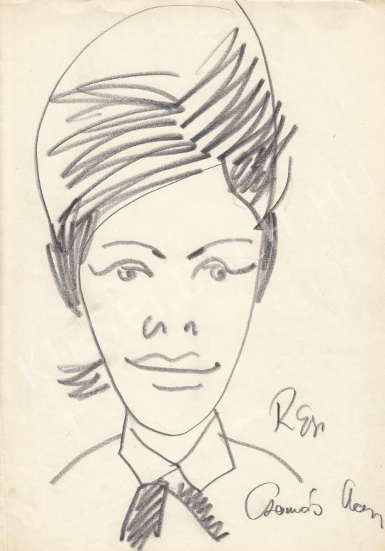 Eladó  Rózsahegyi György - Csomós Mari színésznő portréja festménye
