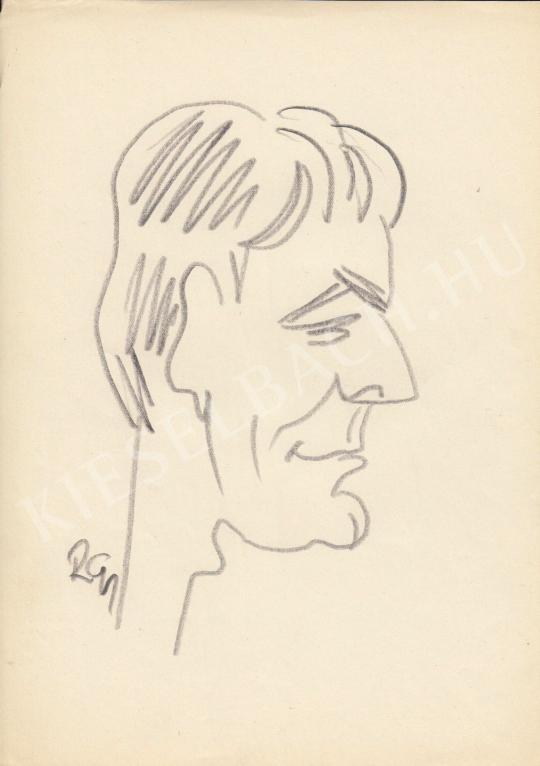 Eladó  Rózsahegyi György - Darvas Iván színész portréja festménye