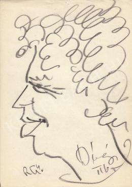 Rózsahegyi, György - Portrait of Tibor Dévényi Actor