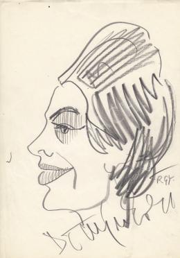 Rózsahegyi, György - Portrait of Edit Domján Actress