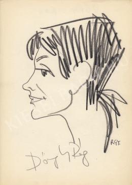 Rózsahegyi, György - Portrait of Virág Dőry Actress