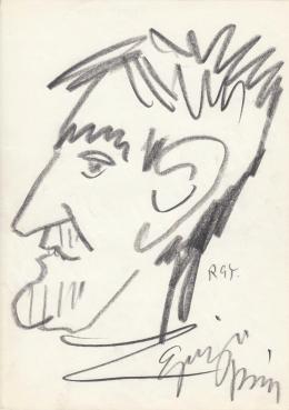 Rózsahegyi, György - Portrait of Károly Eperjes Actor