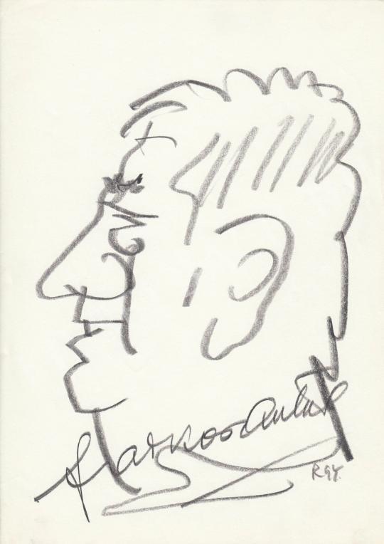 Eladó  Rózsahegyi György - Farkas Antal színész portréja festménye