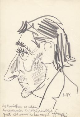Rózsahegyi György - F… (?) színész portréja