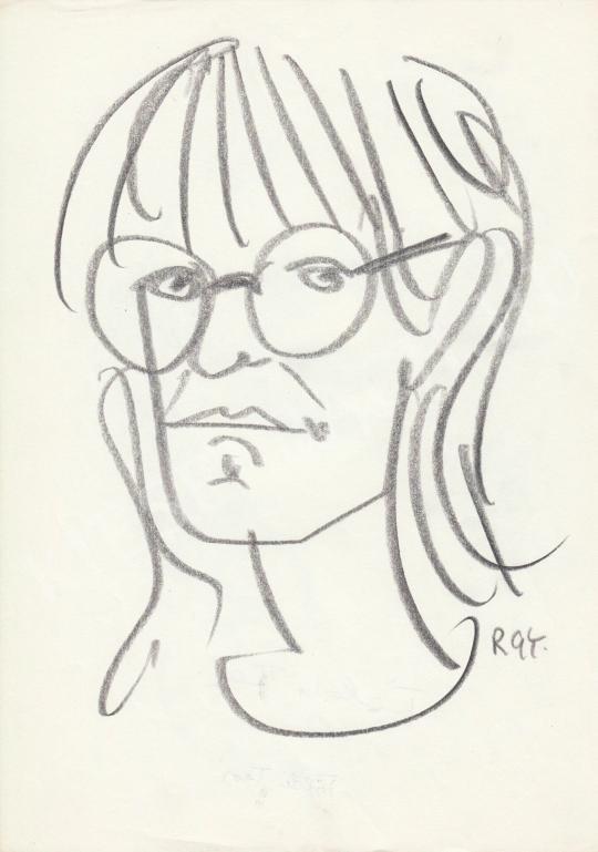 Eladó  Rózsahegyi György - Földi Teri színésznő portréja festménye