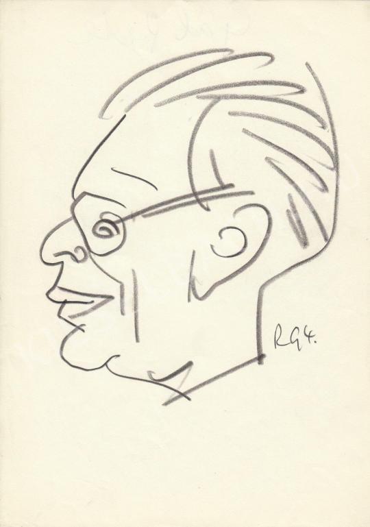 Eladó  Rózsahegyi György - Gál Péter színész portréja festménye