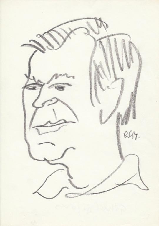 Eladó  Rózsahegyi György - Gálvölgyi János színész, humorista portréja festménye