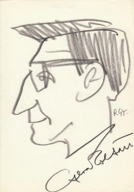 Eladó  Rózsahegyi György - Gera Zoltán színész portréja festménye