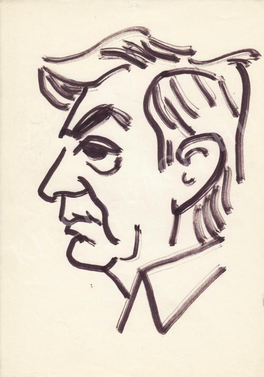 Eladó  Rózsahegyi György - Gábor Miklós színész portréja festménye