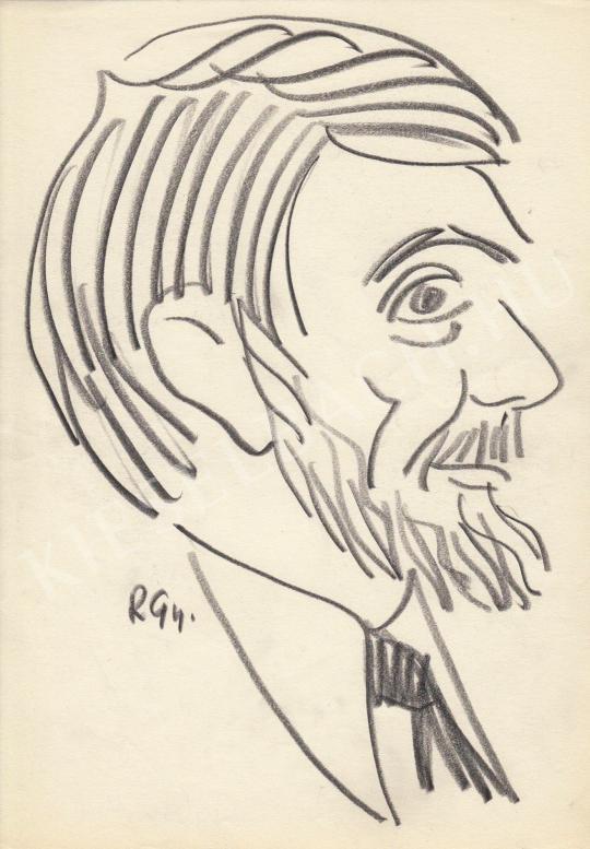 For sale  Rózsahegyi, György - Portrait of Miklós Gábor Actor 's painting