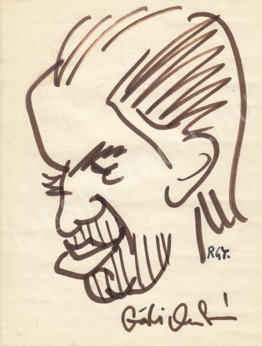 Eladó  Rózsahegyi György - Gáti Oszkár színész portréja festménye