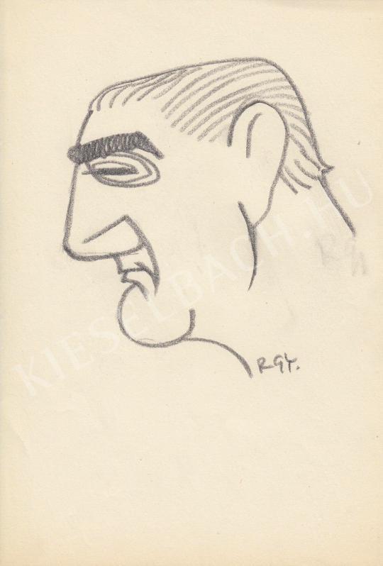 Eladó  Rózsahegyi György - Greguss Zoltán színész portréja festménye