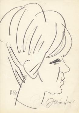 Rózsahegyi, György - Portrait of Judit Halász Actress, Singer