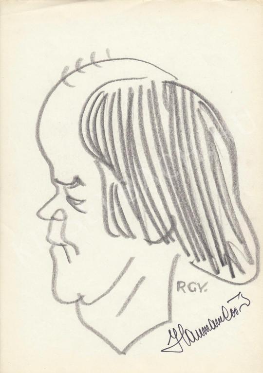 For sale  Rózsahegyi, György - Portrait of Péter Haumann Actor, Director 's painting