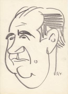 Rózsahegyi, György - Portrait of László Hlatky Actor