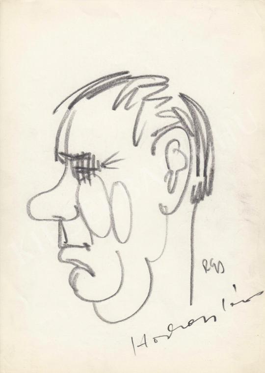 Eladó  Rózsahegyi György - Horkai János színész portréja festménye