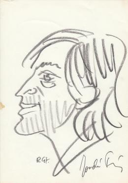 Rózsahegyi, György - Portrait of Tamás Jordán Actor