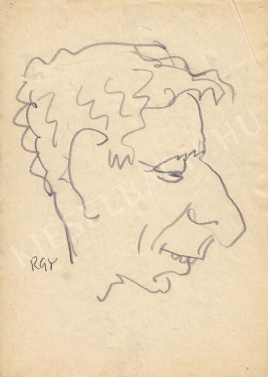 Eladó  Rózsahegyi György - Kabos László színész portréja festménye