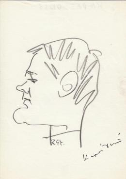 Rózsahegyi, György - Portrait of Dezső Kapás Actor (1970-80s)