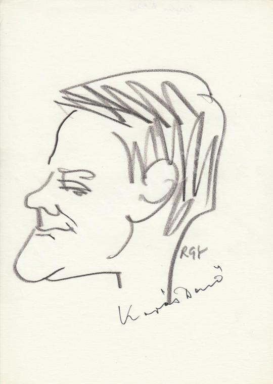 Eladó  Rózsahegyi György - Kapás Dezső színész portréja festménye