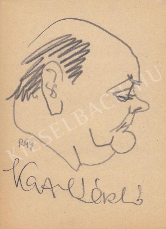 Eladó  Rózsahegyi György - Kazal László színész, énekes, dalszövegíró portréja festménye