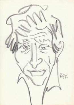 Rózsahegyi, György - Portrait of András Kern Actor, Writer, Humorist, Director