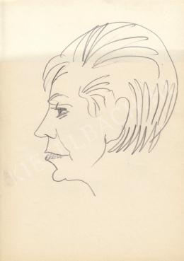 Rózsahegyi, György - Portrait of Juci Komlós Actress (1970-80s)