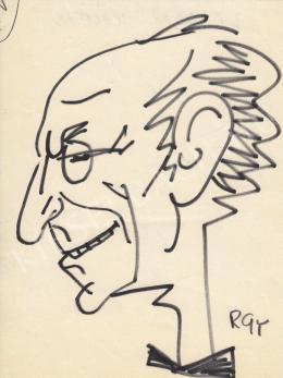 Rózsahegyi György - Latabár Kálmán színész portréja (1960-as évek)