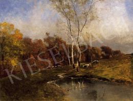 K. Spányi, Béla - Landscape with birch-wood
