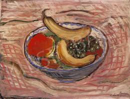 Lahner, Emil - Still life with banana and grapes