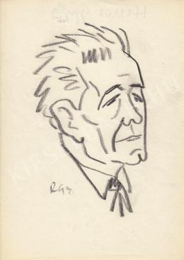 Rózsahegyi György - Hincz Gyula grafikus, festő, iparművész portréja
