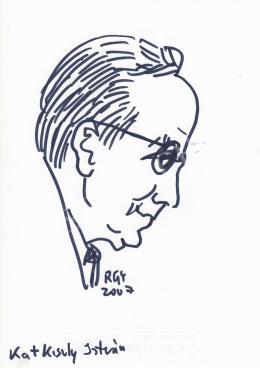 Rózsahegyi György - Kató Kiszly István grafikus, rajzfilmkészítő portréja