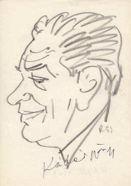 Rózsahegyi, György - Portrait of György Kádár Painter, Graphics