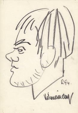 Rózsahegyi, György - Portrait of Zoltán Kálmánchey Graphics (1970-80s)