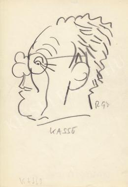 Rózsahegyi, György - Portrait of Felix Kassowitz Cartoonist, Graphics