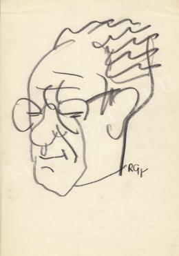 Rózsahegyi György - Kassovitz Felix karikaturista, grafikus portréja