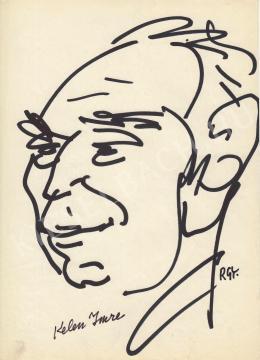 Rózsahegyi György - Kelen Imre grafikus, karikaturista portréja